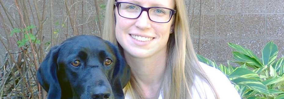 allison o'kell dvm and her dog