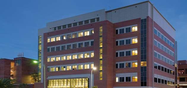 Biomedical Sciences Building at Night