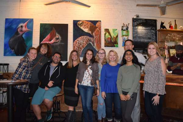 CDN group at storytelling meet up for Bluevember