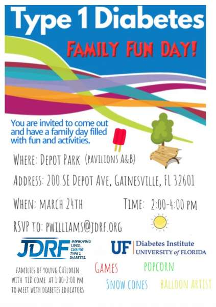 T1D Family Day Flyer