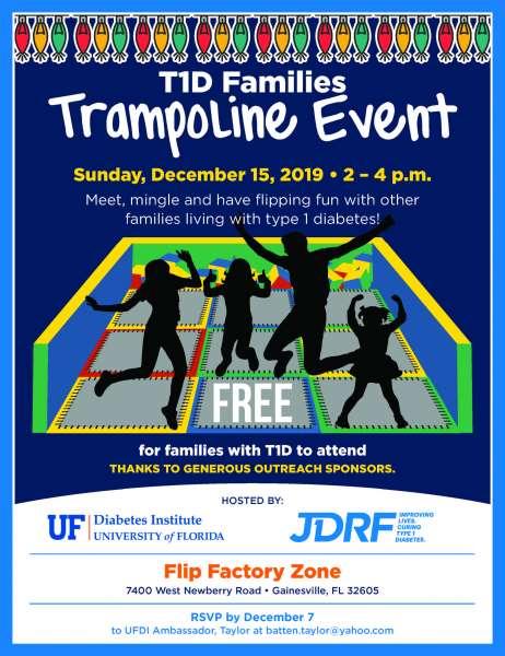 T1D Families Trampoline Event Flyer